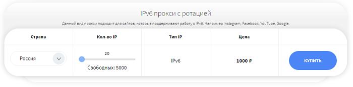 IPV6 с ротацией от Socproxy