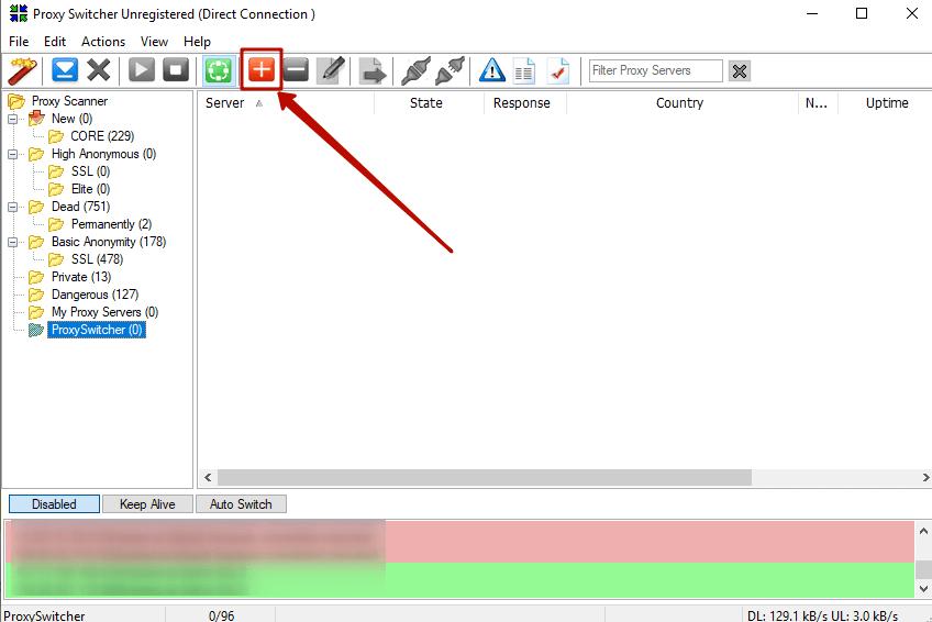 Как добавить прокси в прокси switcher