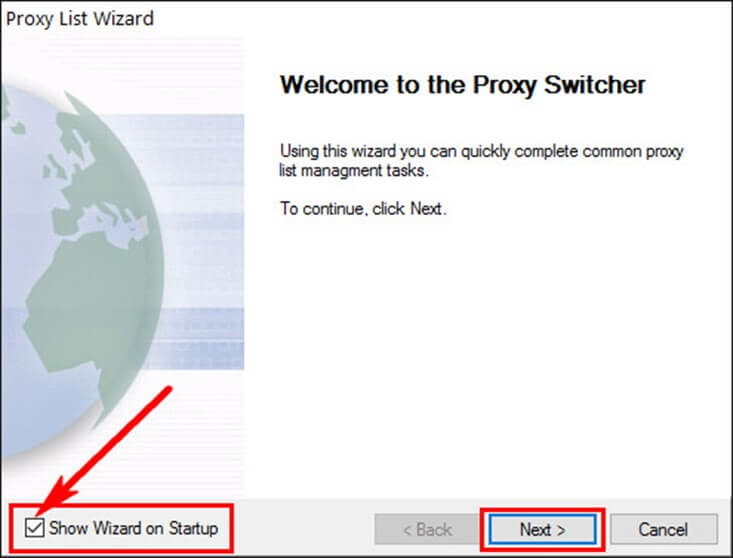 Как установить proxy switcher