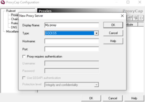 Как добавить прокси в proxycap