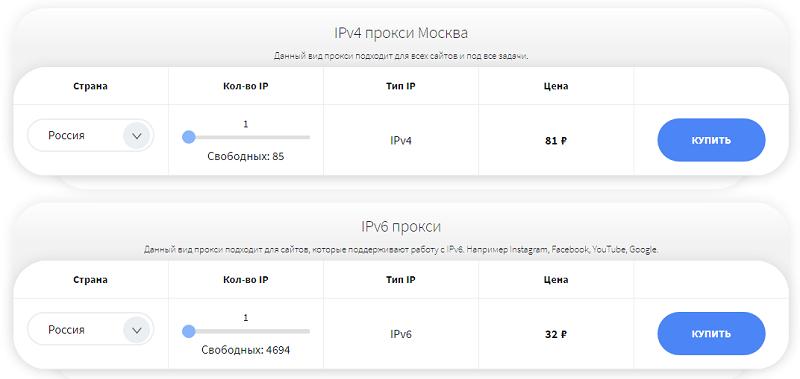 Прокси  ipv4 и ipv6 от SocProxy
